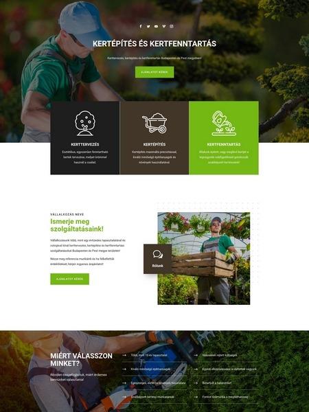 minta weboldal kertész