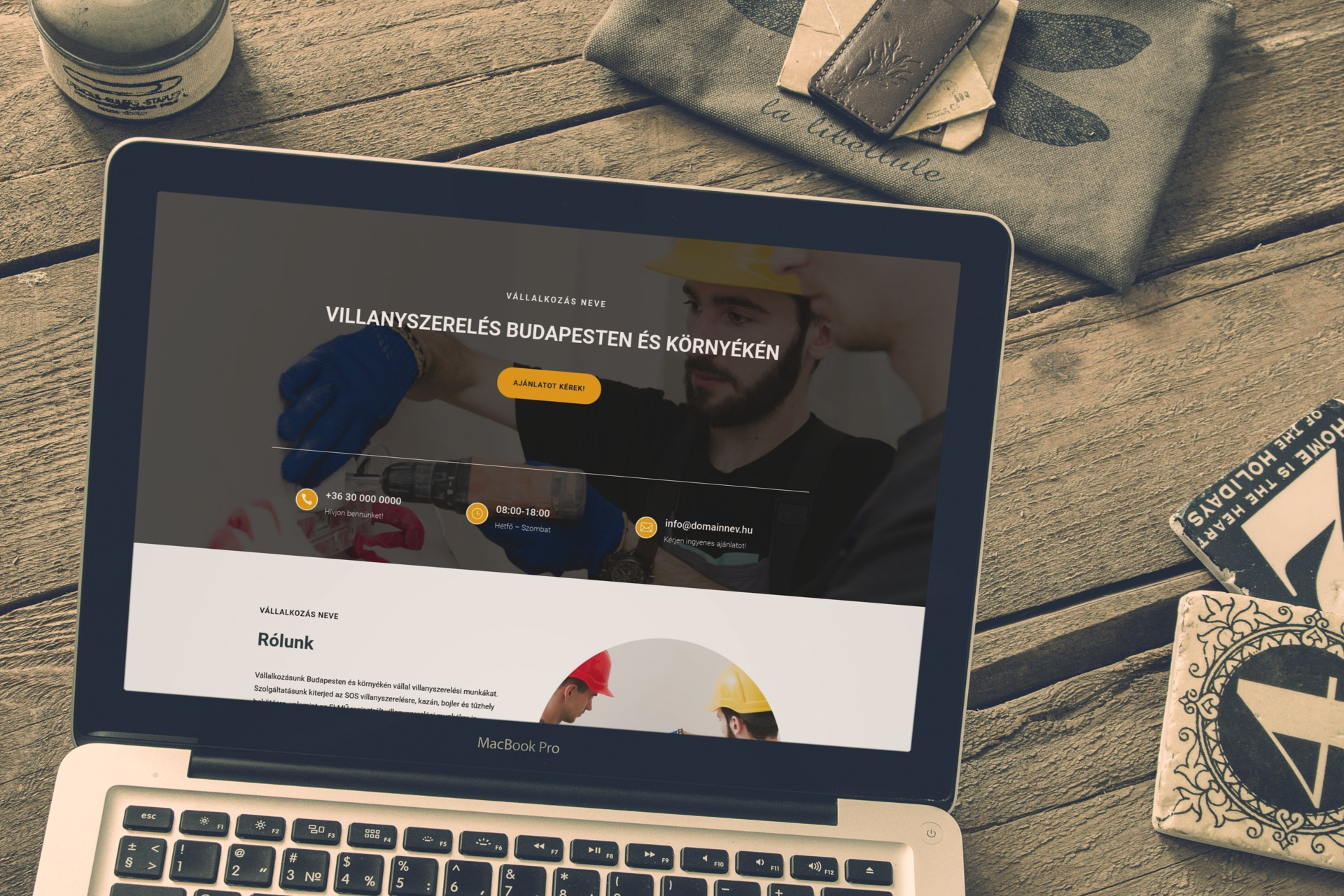 minta weboldal villanyszerelő