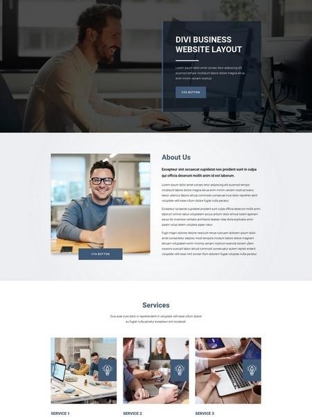 üzleti weboldal sablon