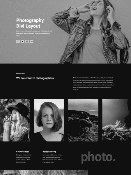 photography layout